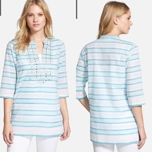 Michael Kors NWT 'Deep Sea Stripe' Studded Tunic
